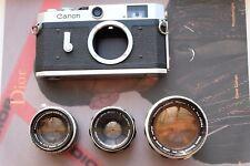 Canon P 35mm Film Rangefinder Camera with 50mm F1.2 50mm F1.8 35mm F2 LTM