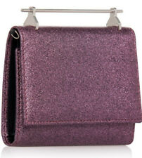 M2MALLETIER BAG CABIRIA WALLET, PINK GLITTER w/Silver, NEW in Box -missing Strap