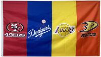 San Francisco 49ers & Los Angeles dodgers & Lakers & Anaheim Ducks Banner 3x5ft