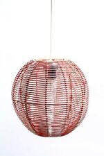 Alte Hängelampe Deckenlampe Kugel 70er Jahre Lampe Kult Retro Design rot