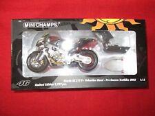 MINICHAMPS® 122 027946 1:12 Honda RC211V  Rossi Pre-Season Testbike 2002 NEU OVP