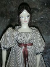 NR Peg Wooden Hitty Doll Doll Artist Rene Hand Carved 12 inch Jointed