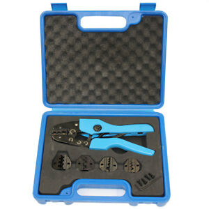 5 Die Crimper Plier Kit Ratchting Versatile Wire Crimping Non Insulated Ferrules
