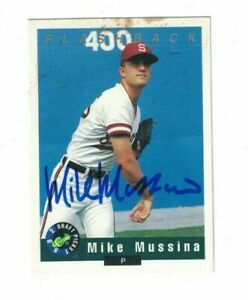 Mike Mussina Stanford University 1991 Classic Signed Card W/Our COA