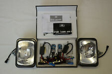 IPF 800XS HID 70W RECTANGLE 4WD DRIVING LIGHT KIT + WIRING LOOM & CLEAR COVERS