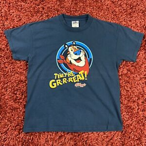 Vintage Kelloggs Tony The Tiger They're Great! Center Print Promo T Shirt 16/18