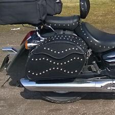 De Cuero Moto Alforjas Alforjas Honda Vt1100 Shadow F6c Valkyrie Gl1500