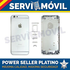 "Chasis Carcasa Trasera Para Apple Iphone 6 4,7"" PLATA Tapa Marco Gris Grey"