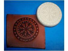 "Viking Compass Leather Emboss Plate 2 7/8"" Diameter"