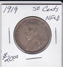 Canada 1919 NFLD 50 Cents silver