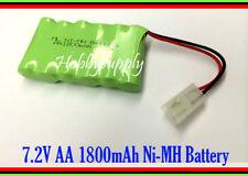 RC Battery Toy Boat Car Tank 7.2V Ni-MH 1800mAh AA 6-Cell Pack with Tamiya Plug