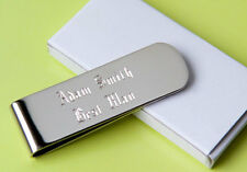 6 personalized money clips best man gift groomsman gift free custom engraving
