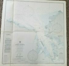 Port Darwin Northern Territory Australia Ww Ii U. S. Navy Map Detailed Clean