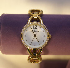 Style & Co - Gold Tone with Clear Crystal Stones Watch