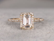 2ct Emerald Cut VVS1 D Diamond Solitaire Engagement Ring 14k Yellow Gold Over