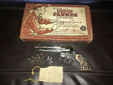 GREAT CONDITION MATTEL SHOOTIN SHELL FANNER CAP GUN SET WITH BOX + BAG OF SHELLS