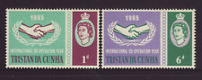 1965 Tristan da Cunha ICY Set Mounted Mint SG87/88