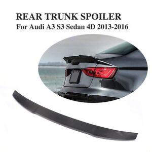 Full Carbon Fiber Rear Trunk Spoiler For Audi A3 S3 RS3 8V Sedan  ( 2014 - 2020)