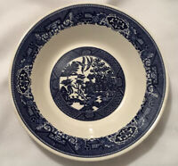 VINTAGE BLUE WILLOW By Royal China Serving Bowl-Made in USA