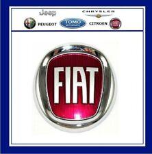 Rear Tailgate Red Boot Badge Fiat Grande Punto Panda Doblo Genuine 735577820