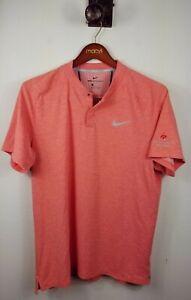 Tiger Woods Nike Golf Aeroreact Momentum Polo Blue Jack National Orange Size XL