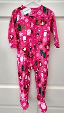 Toddler Girl Carter's Christmas Santa, Reindeer, Tree, snow,Pajamas, 2T NEW!