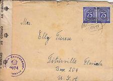 WW Cover - 1947 Germany - Censored cover to U.S.A.- British Zone - WW 7230
