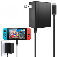 Wall Charger AC Adapter Power Supply For Nintendo Switch Dock and Pro Controller