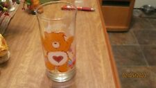 1983 CARE BEAR TENDER HEART  BEAR PIZZA HUT GLASS