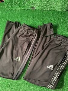 Adidas Black Track pants Size Small Nice Lot Of 2! Jogger