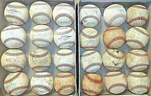 2 dozen used baseballs