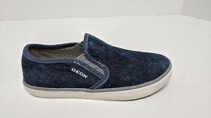 Geox Kilwi Slip-On Sneakers, Blue Denim, Little Kids 11 M (EU 29)