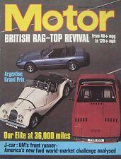 Motor magazine 18/4/1981 featuring TVR Tasmin test, Lotus Elite, Stevens Cipher