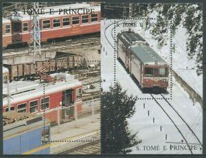 Sao Tomé und Príncipe 1995 Eisenbahn Bergbahn Block 325/26 postfrisch (C28285)
