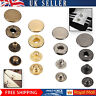 S Spring Press Studs Snap Fasteners 4 Part Sets Button for DIY Leathercrafts