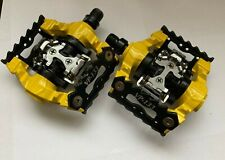 VP Components VP-133 SPD Bicycle DH Pedals Clipless Yellow Extreme Sports Bike