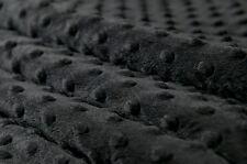 Weicher Samt Stoff Minky Cuddle Dots Noppen Meterware 1lfm 1,5m breit schwarz