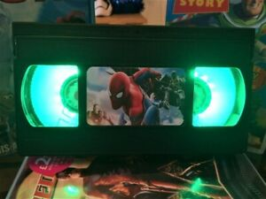Marvel Spiderman VHS Night Light, Cartoon, Side Light, Desk Light, Kids, TV