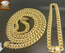 10k Real Gold Miami Cuban Chain, And Bracelet 9 mm. With Box Lock
