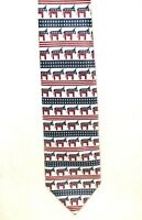 Democratic, Red, White, & Blue with Donkeys Everywhere Neck Tie