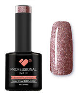 RBBJ-002 VB™ Line Rainbow Pink Glitter - UV/LED soak off gel nail polish
