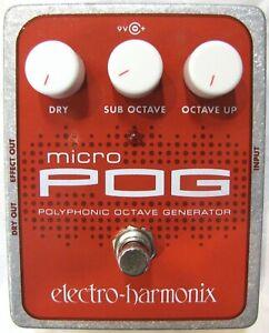 Used Electro-Harmonix EHX Micro Pog Polyphonic Octave Generator Effects Pedal