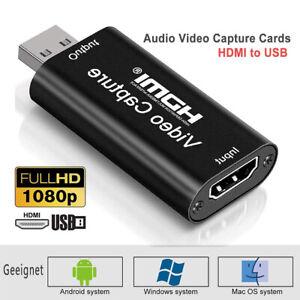 4K HDMI zu USB Video Konverter Audio Capture Adapter Digitalisieren Videograbber