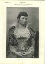 1893 English Beauty Miss E Lane Fox News From Paris And The Empire