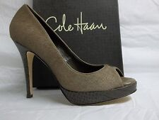 Cole Haan Size 10 M Stephanie Air Grey Leather Hair Calf Pumps New Womens Shoes
