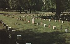 """*Mississippi Postcard-""""The Corinth National Cemetery"""".../Memorial Day w/Flags/"""
