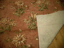 A Pair (2) of JC Penney's Sonoma Coral Rose Standard Sham: USA Made