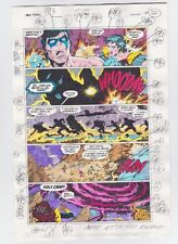 THE NEW TITANS #84 PAGE 20 ORIGINAL COMIC PRODUCTION ART NIGHTWING SIGNED w/COA
