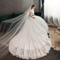 A-Linie Brautkleid Hochzeitskleid Spitze Kleid Braut schulterfrei Schleppe BC896
