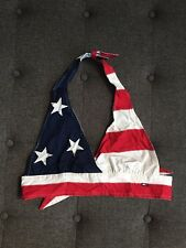 Rare! Vintage 90's Tommy Hilfiger Stars And Stripes Bra Top Halter 4th Of July S